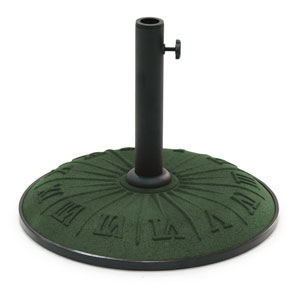 Roman Numerical Forest Green Outdoor Resin Umbrella Stand