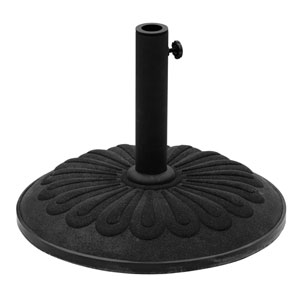 Resin Sunflower Umbrella Stand, Black