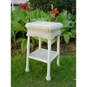 Small PVC Resin Side Table, White
