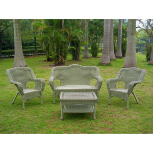 Four Piece Maui Outdoor Seating Group, Antique Moss