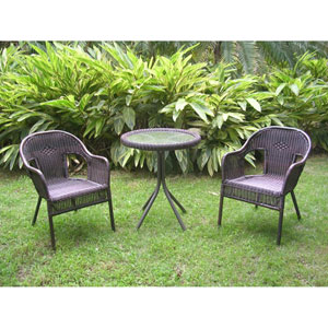Maui Antique Pecan Bistro Set, Set of Three