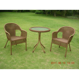 Maui Mocha Bistro Set, Set of Three
