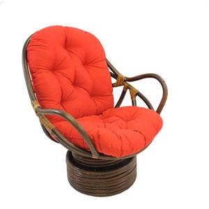 Swivel Rocker with Twill Cushion, Red