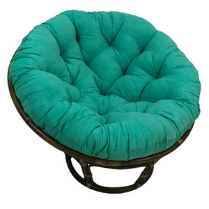 Rattan Emerald Papasan Chair with Micro Suede Cushion