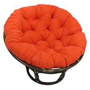 Rattan Tangerine Dream Papasan Chair with Micro Suede Cushion