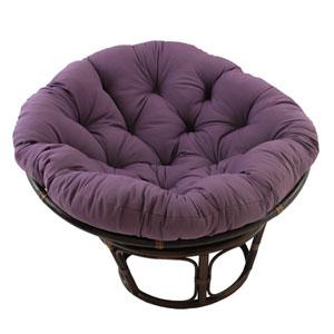Rattan Grape Papasan Chair with Solid Twill Cushion