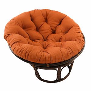 Rattan Spice Papasan Chair with Solid Twill Cushion