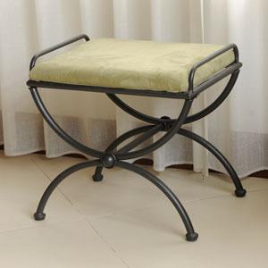 Mandalay Sage Upholstered Vanity Stool