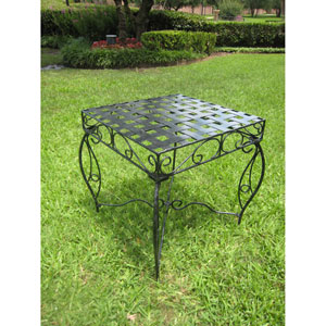Mandalay  Iron Square Side Table