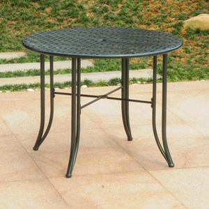 Mandalay Iron Outdoor 39-inch Dining Table, Verdi Green