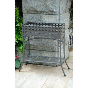 Mandalay Rustic Brown Rectangular Plant Stand