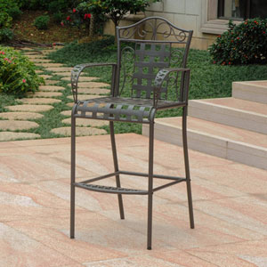 Set of 2 Mandalay Iron Bar Height Chair