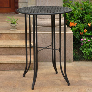 Mandalay Iron Bar Height Round Table