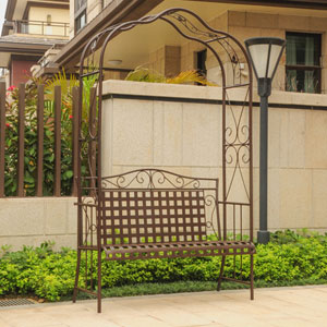 Mandalay Iron Arbor Bench
