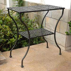 Mandalay Iron Rectangular 2 Tier Table