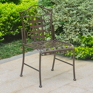 Mandalay Bronze Patio Bistro Chairs, Set of Two