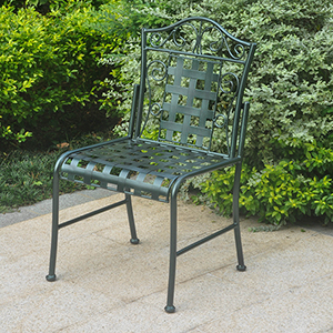 Mandalay Verdi Green Patio Bistro Chairs, Set of Two
