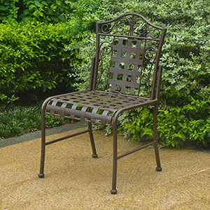 Mandalay Rustic Brown Patio Bistro Chairs, Set of Two