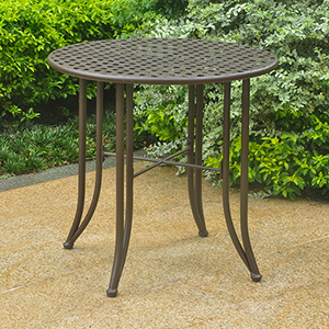 Mandalay Rustic Brown Patio Bistro Table