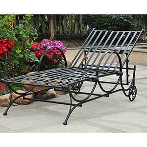 Mandalay Antique Black Single Multi-Position Chaise Lounge