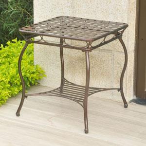Santa Fe Iron Nailhead Side Table, Bronze