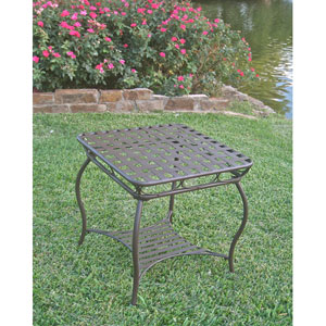 Santa Fe Iron Nailhead Side Table