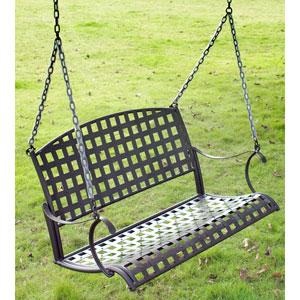 Santa Fe Iron Nailhead Hanging Swing