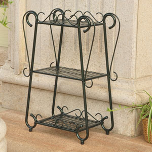 Santa Fe Verdi Green Three Tier Shelf