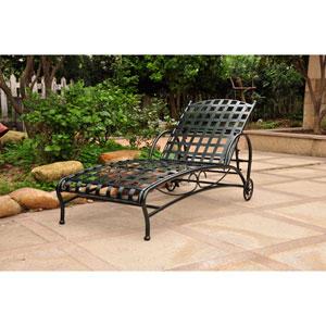 Santa Fe Verdi Green Nailhead Single Multi Position Chaise Lounge