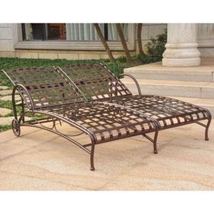Santa Fe Bronze Nailhead Double Multi Position Chaise Lounge