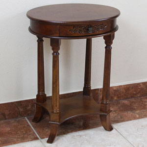 One Drawer Oval Table