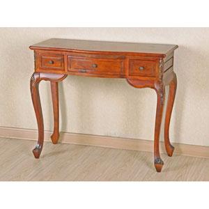 Carved Wood Vanity Desk