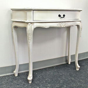 Carved Wood 1-Drawer Wall Table