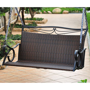 Valencia Chocolate Loveseat Swing