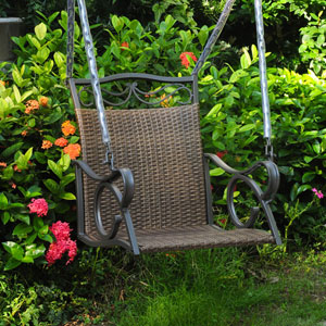 Valencia Antique Brown Single Chair Swing