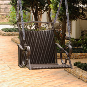 Valencia Chocolate Single Chair Swing