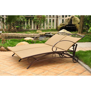 Valencia Honey Multi Position Double Chaise Lounge