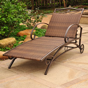 Valencia Antique Brown Multi Position Single Chaise Lounge