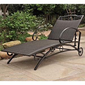 Valencia Black Antique Multi Position Single Chaise Lounge