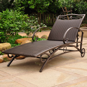 Valencia Chocolate Multi Position Single Chaise Lounge