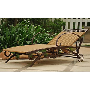 Valencia Honey Multi Position Single Chaise Lounge