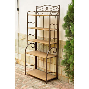 Valencia Honey Five Tier Folding Shelf