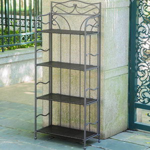 Valencia 4-Tier 24-inch Wide Plant Stand, Chocolate