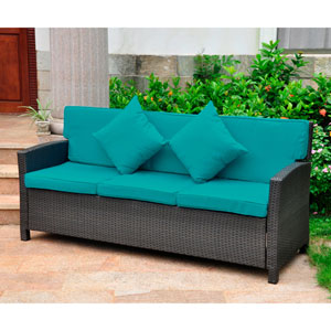Valencia Resin Wicker Contemporary Deep Seat Sofa with Cushion