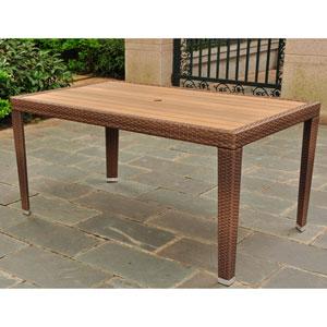Barcelona Resin Wicker/Aluminum Rectangular Dining Table