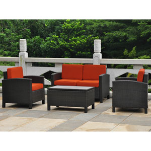 Barcelona Set of 4 Settee Group w/Cushions