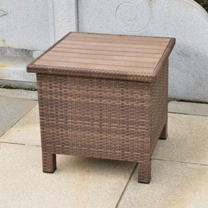 Barcelona Aluminum/Resin Side Table