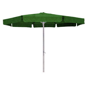 8 Ft. Forest Green Outdoor Aluminum Umbrella with Flaps