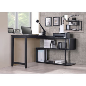 Hamburg Black Swing Out Desk
