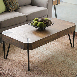 Hamburg Canyon Oak Wood Veneer Coffee Table